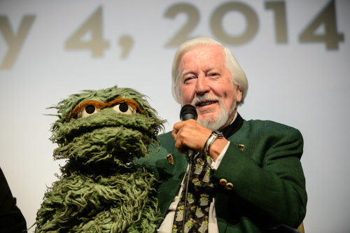 Caroll Spinney with Oscar the Grouch at the 2014 MontClair Film Festival