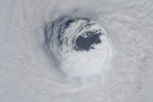 The picture shows Hurricane Michael as seen from the International Space Station on October 10, 2018.