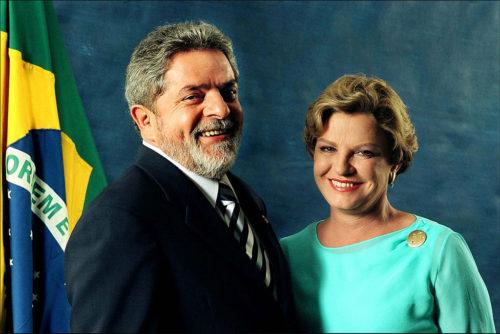 Luiz Inácio Lula da Silva with his wife