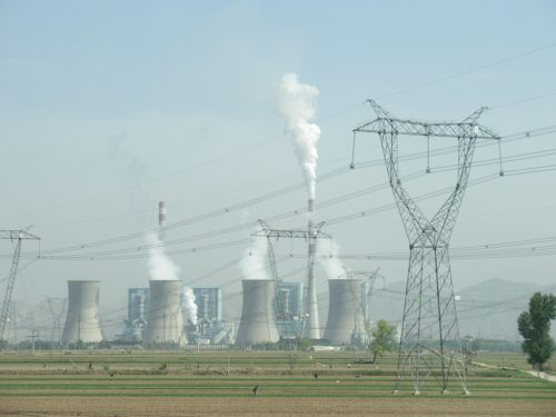Coal-fired power plant in Shuozhou, Shanxi, China