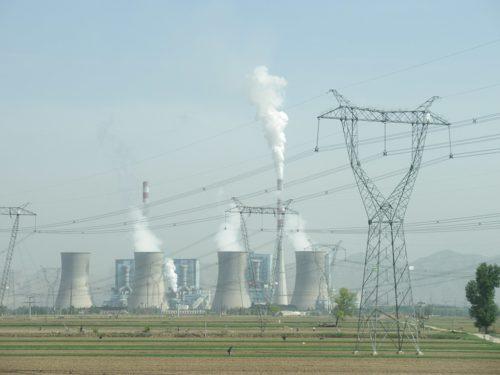 Coal-fired power plant in Shuozhou, Shanxi, China