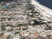 Aerial view of Mexico Beach devastation after Hurricane Michael, 10/11/2018.
