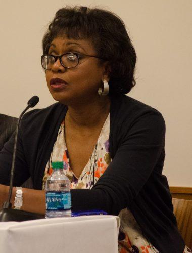 Anita Hill speaking in 2014.