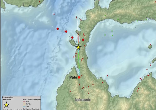 Location of the 2018 Sulawesi earthquake.