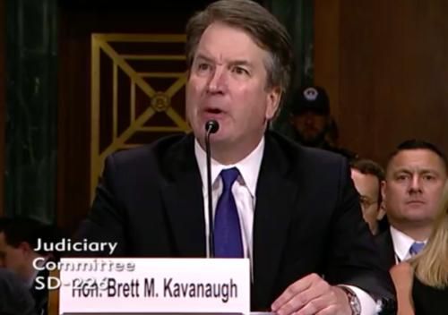 Judge Brett Kavanaugh testifying before the Senate Judiciary Committee