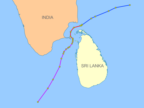 India-Sri Lanka maritime boundaries through agreements that happened in 1974 and 1976