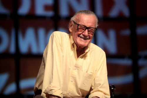 Stan Lee speaking at the 2014 Phoenix Comicon at the Phoenix Convention Center in Phoenix, Arizona.