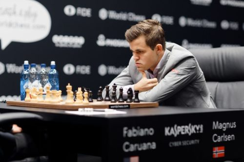 Magnus Carlsen is the current champion. He has also been a world champion at rapid and blitz chess.
