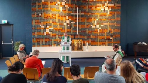 Service inside Bethel Church in The Hague
