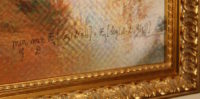 Close-up of the signature on the artwork Le Comte de Belamy.
