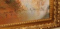 Close-up of the signature on the artwork Le Comte de Belamy.
