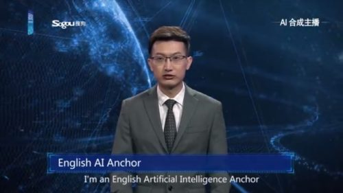 "China's Xinhua News Agency showed off a new tool earlier this month - a computer-created ""AI"" news anchor to read the news on TV."