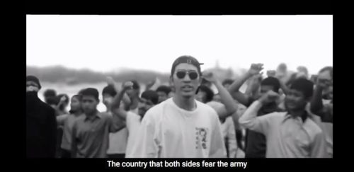 A rapper from Rap Against Dictatorship performing Which is My Country?