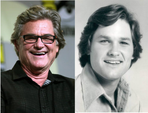 Kurt Russell at ages 65 and 23.