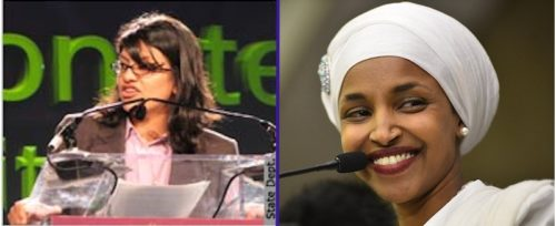 Democrats Rashida Tlaib of Michigan and Ilhan Omar of Minnesota