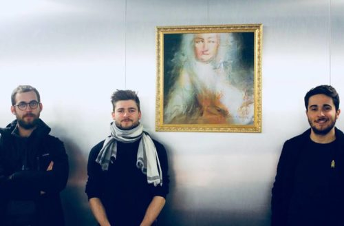 The members of Obvious with their picture, Le Comte de Belamy