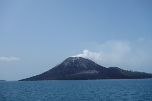 Anak Krakatau volcano in Indonesia. 20 October 2013