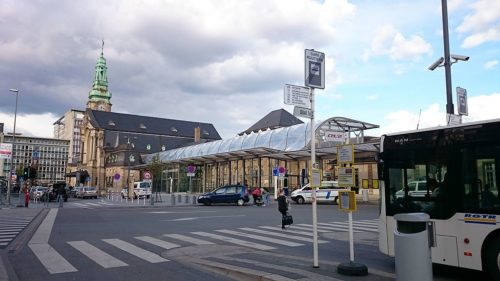 Luxembourg train station from bus platform