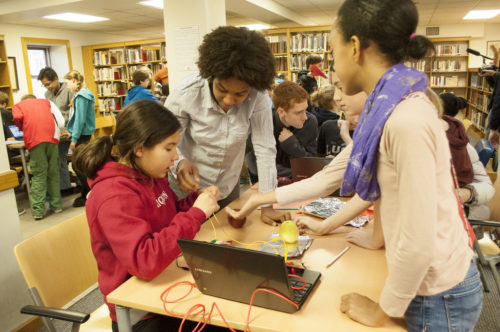 Friends' Central took part in the Hour of Code during Computer Science Education Week.