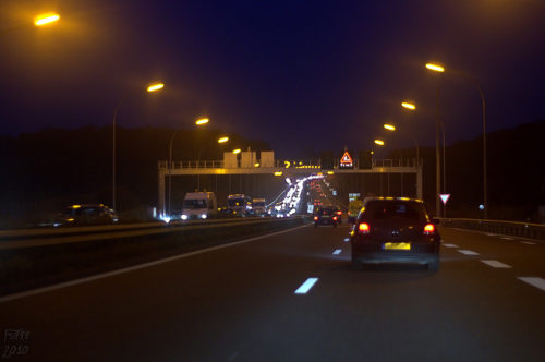 Night time traffic jam - On the road again... Pontpierre • Luxembourg