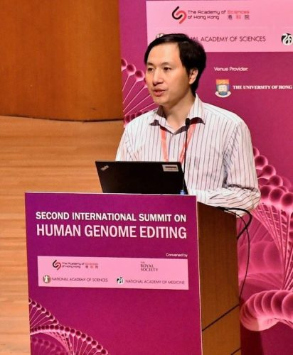 He Jiankui at Second International Summit on Human Genome Editing