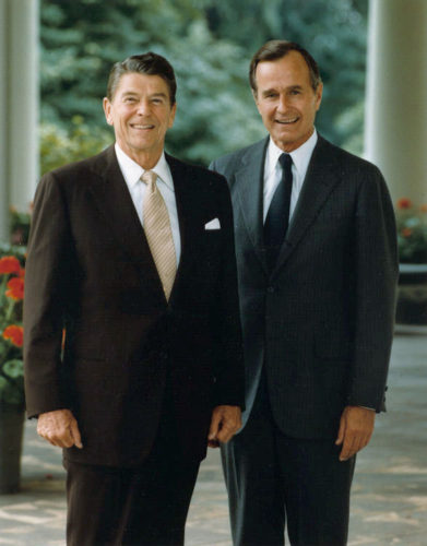 Official portrait of President Reagan and Vice President Bush 1981
