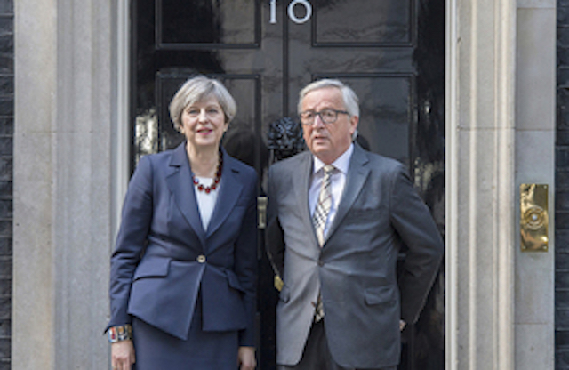 Prime Minister Theresa May meets with Mr Jean-Claude Junker, President European Commission.