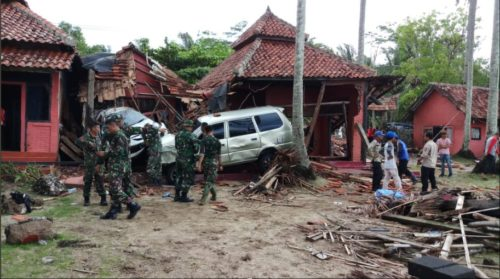 Soldiers were dispatched to assist in the search and rescue efforts