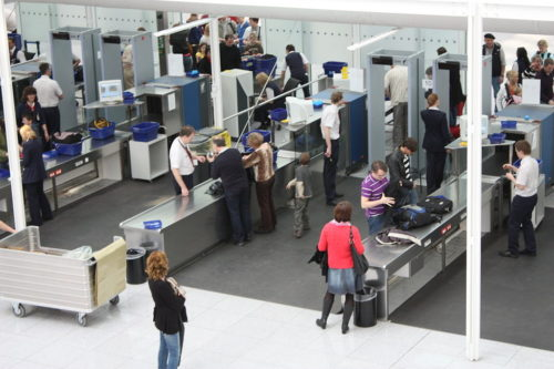 Airport Munich Security Checkpoint