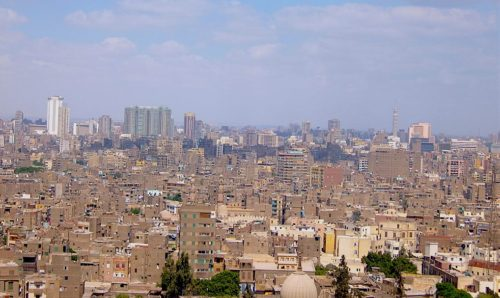 A view over Cairo from the Citadel.