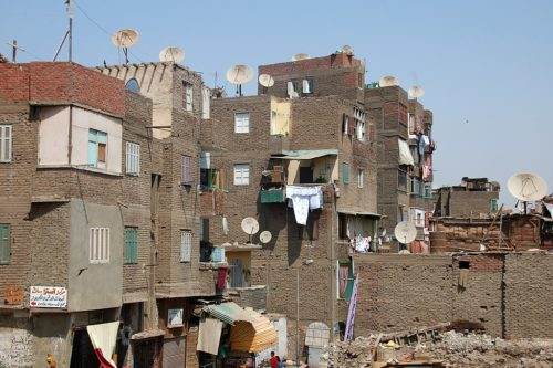 A poor neighborhood in Cairo