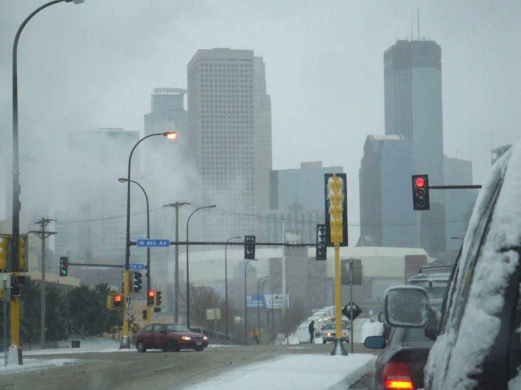 Minneapolis, Minnesota (USA) in winter.