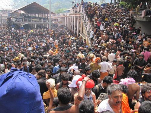Rush at Sabarimala. Swamis gather at sannidhanam to get glimpse of divya makara jyothi.