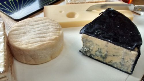 Cheese Board: Roaring Forties Blue Cheese, Emmental, and Pie d'Angloys