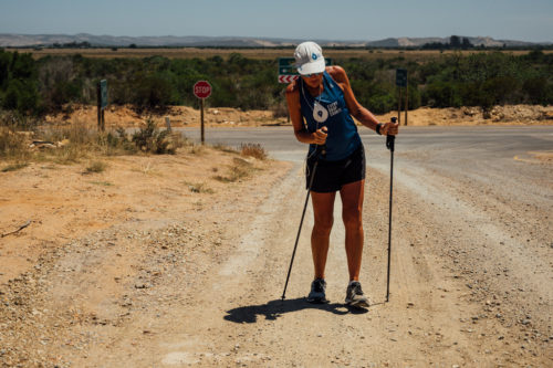 Ultra runner and water campaigner, Mina Guli walks between Mossel Bay and Riversdale, South Africa during the #RunningDry Expedition, on 4 January 2019