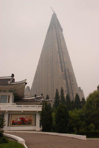 North Korea — Pyongyang, Ryugyong Hotel 28 July 2007
