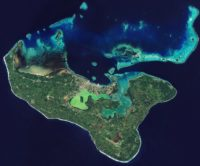 The island of Tongatapu and the nearby smaller islands – all part of the Kingdom of Tonga archipelago in the southern Pacific Ocean – are pictured in this Sentinel-2A image from 23 May, 2016.