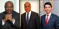 African leaders Ali Bongo, Martin Fayulu, and Andry Rajoelina.