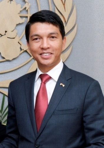 Andry Rajoelina, President of Madagascar during the transition in New-York City at the UN headquarters.