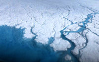 Streams and rivers that form on top of the Greenland ice sheet during spring and summer are the main agent transporting melt runoff from the ice sheet to the ocean.