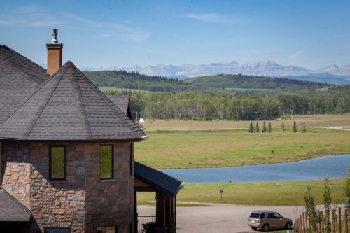 View of the Rockies behind the house Alla Wagner is offering as a writing contest prize.