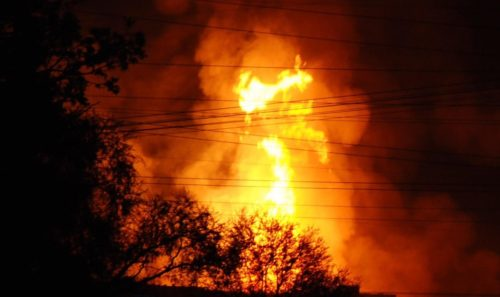Moscow gas fire in may 2009
