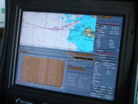 Navigation system used on an oil tanker : electronic chart