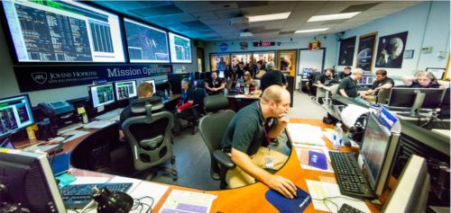 The New Horizons Mission Operations Center at the Johns Hopkins University Applied Physics Laboratory, Laurel, Maryland.