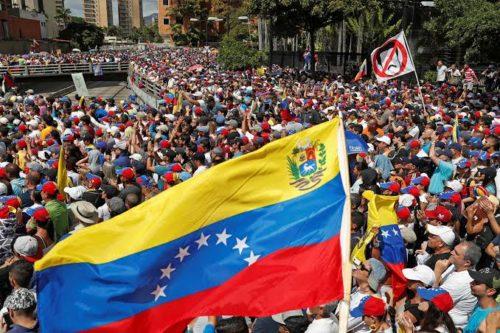 Photo of anti-Maduro protests in Venezuela, January 23, 2019/Foto do protesto na Venezuela em 2019 contra governo de Maduro