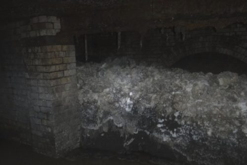 Fatberg found under The Esplanade in Sidmouth, England, announced by South West Water on 2019-01-8
