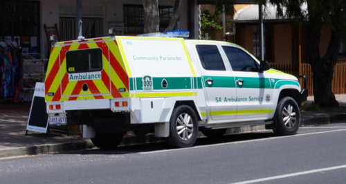 4x4 Community Response Vehicle in service with the SA Ambulance Service, taken December 2017.