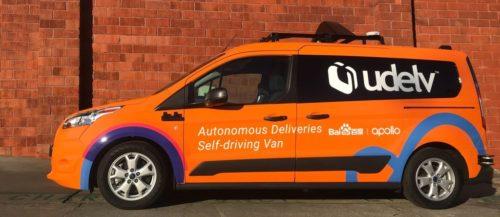 Udelv's self-driving delivery van.