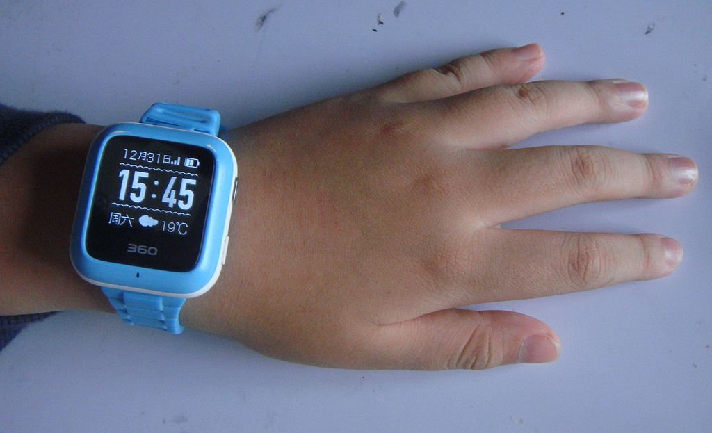 Child's phone watch (smartwatch) in China (boy).
