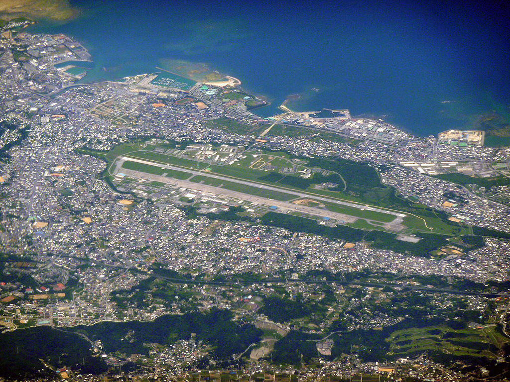 Aerial view of Marine Corps Air Station Futenma 2010-05-26
